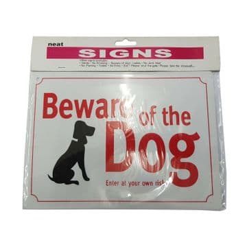2 x BEWARE OF THE DOG SIGN - ENTER AT YOUR OWN RISK pet